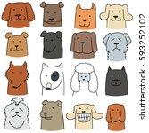 vector set of dog | Shutterstock .eps vector #593252102