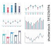 bar graph and line graph... | Shutterstock .eps vector #593256596
