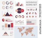 world map infographic. vector... | Shutterstock .eps vector #593259305