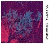 purple artistic neo grunge...   Shutterstock .eps vector #593265722