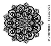mandalas for coloring book.... | Shutterstock .eps vector #593267036
