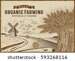 wheat organic farming landscape | Shutterstock . vector #593268116