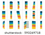 mega set of option step by step ... | Shutterstock .eps vector #593269718