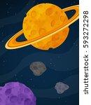 fantasy alien landscape....   Shutterstock .eps vector #593272298