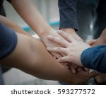 team teamwork relation together ... | Shutterstock . vector #593277572