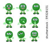 cute green emoticon art... | Shutterstock . vector #59328151