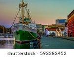 stavanger at night   charming... | Shutterstock . vector #593283452