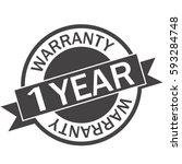 1 year warranty icon warranty... | Shutterstock .eps vector #593284748