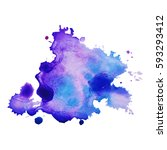 abstract hand drawn watercolor... | Shutterstock .eps vector #593293412