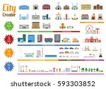 city creator full collection... | Shutterstock .eps vector #593303852