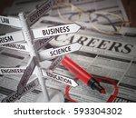 careers direction fields  jjob... | Shutterstock . vector #593304302