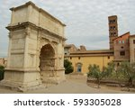 arco di titus | Shutterstock . vector #593305028