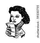 scarlett's love letter   retro... | Shutterstock .eps vector #59330755