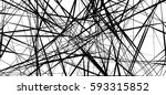 random chaotic lines abstract... | Shutterstock .eps vector #593315852