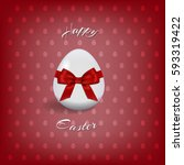 happy easter text and easter... | Shutterstock .eps vector #593319422