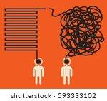 misunderstanding  two people... | Shutterstock .eps vector #593333102