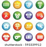 football vector icons for user... | Shutterstock .eps vector #593339912