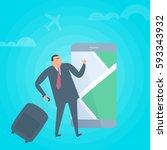 businessman searchig for...   Shutterstock .eps vector #593343932
