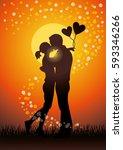 silhouette vector illustration... | Shutterstock .eps vector #593346266