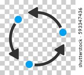 rotate icon. vector... | Shutterstock .eps vector #593347436