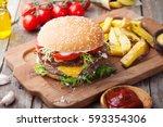 Burger  Hamburger With French...