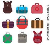 hand bags vector. business... | Shutterstock .eps vector #593358878