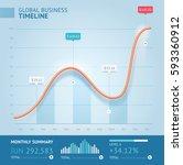 business 3d infographic line... | Shutterstock .eps vector #593360912