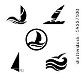 Icons With The Image Of Yachts...