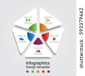 infographic report template... | Shutterstock .eps vector #593379662