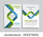 brochure design layout with... | Shutterstock .eps vector #593379692