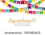 vector illustration of festive... | Shutterstock .eps vector #593383625
