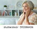 Beautiful Happy Elderly Woman