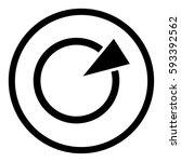 diagram icon in circle on white ...