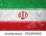iran   iranian flag on old... | Shutterstock . vector #593394905