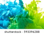 blue and green paint splash... | Shutterstock . vector #593396288