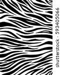 zebra print  animal skin  tiger ... | Shutterstock .eps vector #593405066