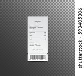 sales receipt. the printed... | Shutterstock .eps vector #593405306