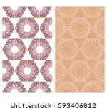 set of romantic geometric... | Shutterstock .eps vector #593406812