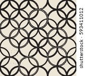 vintage castle geometric... | Shutterstock .eps vector #593411012