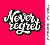 hand lettering typography...   Shutterstock .eps vector #593415812