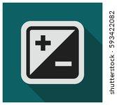 plus minus vector icon | Shutterstock .eps vector #593422082