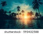 Twilight On A Tropical Beach...