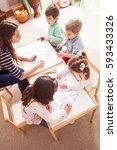 preschoolers learn letters | Shutterstock . vector #593433326