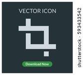 crop vector icon | Shutterstock .eps vector #593433542