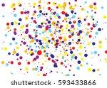 confetti colourful background.... | Shutterstock .eps vector #593433866