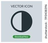 contrast vector icon | Shutterstock .eps vector #593438396