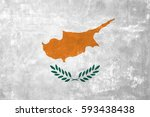 cyprus   cypriot flag on old... | Shutterstock . vector #593438438