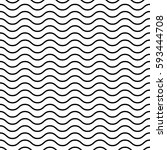 seamless wavy pattern. black... | Shutterstock .eps vector #593444708