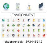 isometric flat icon set. 3d... | Shutterstock .eps vector #593449142