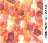 abstract seamless cubes vector... | Shutterstock .eps vector #593455556